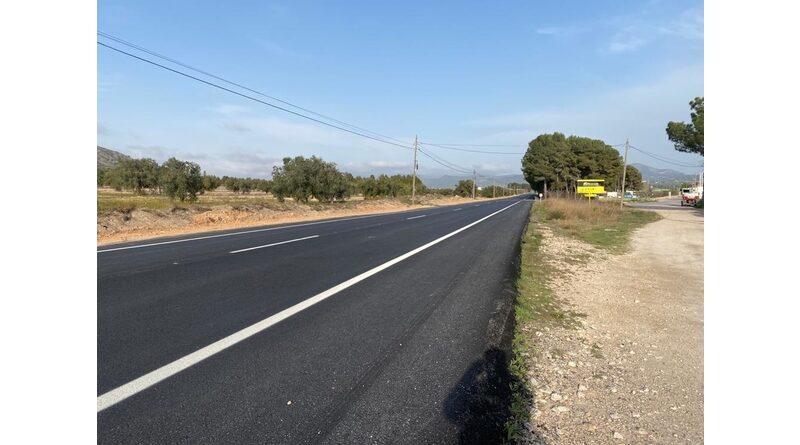 Terminan las obras de mejora del asfaltado y firme de la carretera Villena a Biar